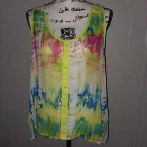 No Boundries Tie Dyed Tank XL 15-17